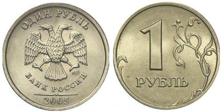 1 рубль 2005 года